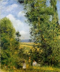 Resting in the woods Pontoise - Camille Pissarro