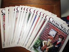 HUGE LOT of vintage Cross Stitch & Country Crafts Magazines.  Ranges from 1988-1991.