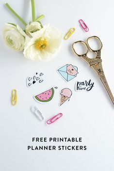Celebrating the launch of the Craftsposure 2016 Planner & Diary, I've teamed up with Steph from Make and Tell to give you these free printable stickers to bling up your planner!: