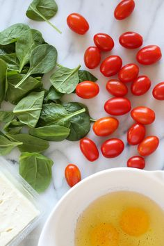 Open-Faced Omelet with Feta, Roasted Tomatoes and Spinach   Skinnytaste#more#more#more