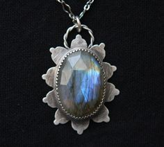 Labradorite and Sterling Silver Handmade Pendant By: Angie Pember Brockey