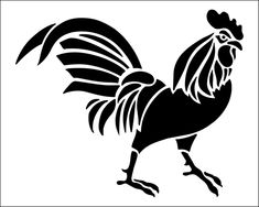 Cockerel stencil from The Stencil Library BUDGET STENCILS range. Buy stencils online. Stencil code SS26.