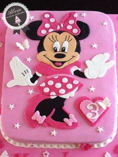Mini Mouse Birthday Cake, Mini Mouse Cake, Minnie Mouse Birthday Decorations, Disney Frozen Birthday, Elsa Birthday, Ballerina Birthday Parties, Little Girl Birthday, Bolo Da Minnie Mouse, Mickey Mouse Cake