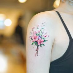 Mini Bouquet tattoo by Nando Tattooer