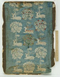 One of Laura Ashley's very first heraldic prints, now a museum piece.