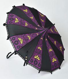 Purple Dark Green Scales Mermaid Paa Umbrella