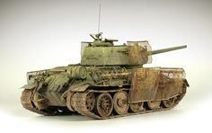 This model depicts a Russian T-34/85 with retrofitted German Panzer IV Thoma shields. I had wanted to construct this T-34 for years. I feel that the flimsy sand yellow shields contrast nicely with the …