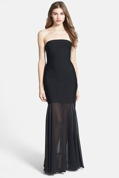JS Collection Drop Waist Trumpet Gown by JS Collections on @nordstrom_rack