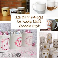 These chilly winter months have gotten me in the mood for nice cup of hot cocoa, how about you? And what better way to drink it than in a darling DIY mu