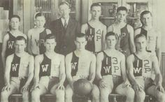 The awesome uniforms of the basketball team in the 1939 yearbook of 1939 West Paris High School Yearbook in  West Paris, Maine.