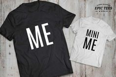 Me mini me father son matching shirts, Me mini me father son matching T-shirts, cotton Tee, UNISEX * * * Hello & Welcome to the EPIC TEES Mommy And Me Outfits, Family Outfits, Cute Outfits For Kids, Boy Outfits, Father Son Matching Shirts, Fathers Day Shirts, Mama Baby, Cool T Shirts, Tee Shirts