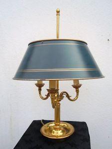 Good Lampe bouillotte bronze dor abat jour en t le peinte d u poque XX me