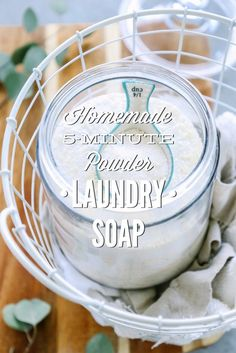 No seriously, this powder laundry soap takes only 5 minutes to make! So easy and so awesome!