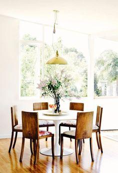Casual elegant dining space