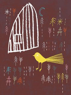 bird and cage by Rob Hodgson