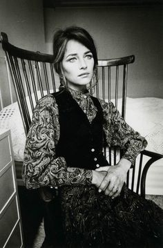 Charlotte Rampling photographed by Jeanloup Sieff. S)