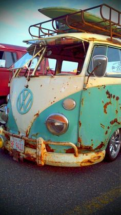 great patina on a surf bus