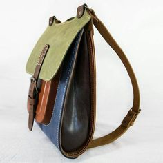 Colorful Leather Backpack Handmade rucksack 13 by InBagWeTrust Backpack Bags, Leather Backpack, Leather Purses, Leather Handbags, Leather Bags Handmade, Leather Accessories, Leather Working, Fashion Bags, Purses And Bags