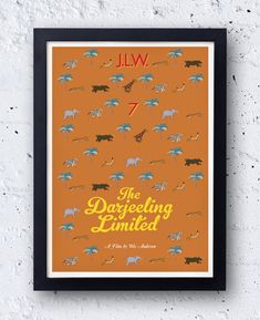 The Darjeeling Limited  - Inspired by the Wes Anderson film -  original bestplayever artwork - Jason Schwartzman Owen Wilson
