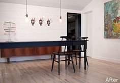 rustic-modern dining room makeover
