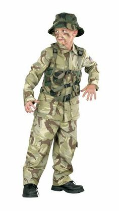 Delta Force Child Costume Size Medium 8-10 - 113062 by Funworld. $38.70. Makes a great Halloween costume. Costume comes with character official looking desert army gear. Shoes are not included. Also includes matching camouflage cargo pants. Vest, hat, and shirt. Official look desert army gear, camouflage cargo pants, vest, shirt, and matching hat