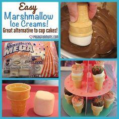 Marshmallow Ice Cream Cones