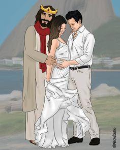 Bom dia 🙏 _________________________________________ 👩👨 Marquem 3 amigos . ✔ Sigam lá o ADM @anailton.jr . 🔊 Ativem as notificações . 💥 Use… Jesus Christ Quotes, Jesus Christ Images, Jesus Art, Jesus Is Lord, Christian Drawings, Christian Art, Jesus Is Risen, Jesus Loves, Jesus Cartoon