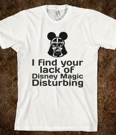 Darth Mickey Finds You Disturbing - Best way to show Disney and Star Wars Love- perfect t-shirt for Disney's Star Wars Weekend - Mickey Mouse - Darth Vader - only on Skreened