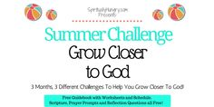 What would it look like if you took this summer to grow closer to God? Join the Spiritually Hungry Summer Challenge and spend the next three months cultivating a deeper relationship with God.
