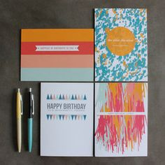 Happy Birthday Card Set, $25, now featured on Fab.