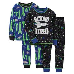 Just One You™ Made by Carter's® Toddler Boys' 4-Piece Mix & Match Spaceship Pajama Set