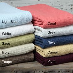 Grand Hotel Blanket 100-percent Cotton - Overstock™ Shopping - Top Rated Blankets.  Love the coral color!