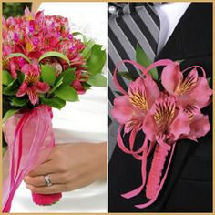 Hot pink Peruvian lilies... gorgeous bridal bouquet!