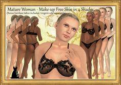 *LBD* Mature Women's Skins - 4 Tones with bonus Hairbase