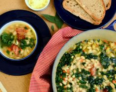 White Bean, Bacon and Kale Soup from This IS how I cook - Just what you need on a cold winter's day!