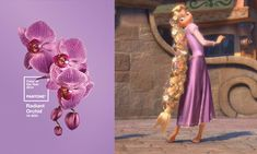 Rapunzel Has Already Mastered Pantone's Color of the Year | Disney Style / Radiant Orchid 18-3224