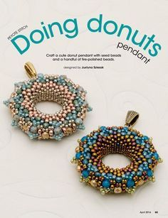 saved as peyote pendant from bead and button under jewelry Beaded Jewelry Designs, Seed Bead Jewelry, Jewelry Patterns, Beading Patterns, Beading Projects, Beading Tutorials, Motifs Perler, Peyote Beading, Bead Crafts