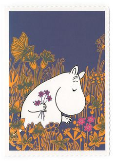 Moomin Picture from Tove Jansson Original Illustrations Size of the paper: 24 cm x 30 cmSize of the picture: about 18 cm x 25 cmNew.I sell many Moomin pictures. Moomin Wallpaper, Moomin Books, Moomin Valley, Tove Jansson, Freundlich, Cute Illustration, Finland, Painting & Drawing, Troll