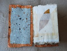 blank journal accordian handmade paper by 88editions on Etsy