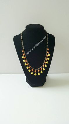 Hey, I found this really awesome Etsy listing at https://www.etsy.com/listing/292909481/yellow-necklace-orange-necklace-boho