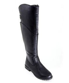 Another great find on #zulily! Black Riding Boot by Anna Shoes #zulilyfinds $17.49