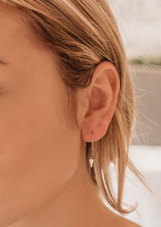Tiny Key Threader Earrings, Key Earrings, Key Threaders, Silver key Earrings, Lock and Key, Minimalist Earrings, Perfect Gift for Her Perfect Gift For Her, Gifts For Her, Dainty Gold Jewelry, Oils For Skin, Minimalist Earrings, Gold Earrings, Jewelry Gifts, Steel Bar, Keys