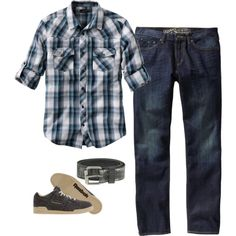 """""""Men's Casual Outfit"""" by shellabelladesigns on Polyvore"""