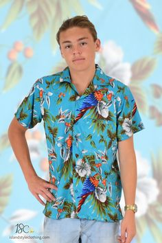 Mens Turquoise Magnum Hawaiian Shirt - wicked party shirts for casual wear, parties, cruising or bucks nights. Exact matching shorts available #hawaiianshirts #magnumsshirt #partyshirts #hawaiianprint #cruise #schoolies #bucksnights #parrothead #bachelorparty #drinkingshirts #shitshirt #parrotshirt #purpleparty #turquoiseshirt #blueshirt
