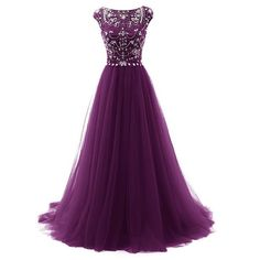 dark purple Evening Dress,tulle Prom Dress,long prom dress,Charming prom dress,BD1401