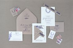 Blue + Gray - Ruby & Willow Custom Wedding Stationery Britannia Suite