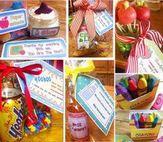 Teachers Gifts! Tons of ideas that range from super crafty to super simple...enjoy!