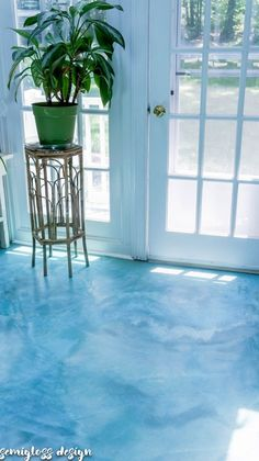 DIY Stained Concrete Floors are So Easy!! - semigloss designFacebookInstagramPinterestRSSTwitter