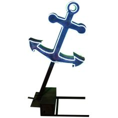 fun decor pc. for beachin` digs... 1950's Double Sided Neon Anchor Sign