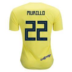 198e0a63e89 Jeison Murillo 22 2018 FIFA World Cup Colombia Home Soccer Jersey Giovanni  Moreno